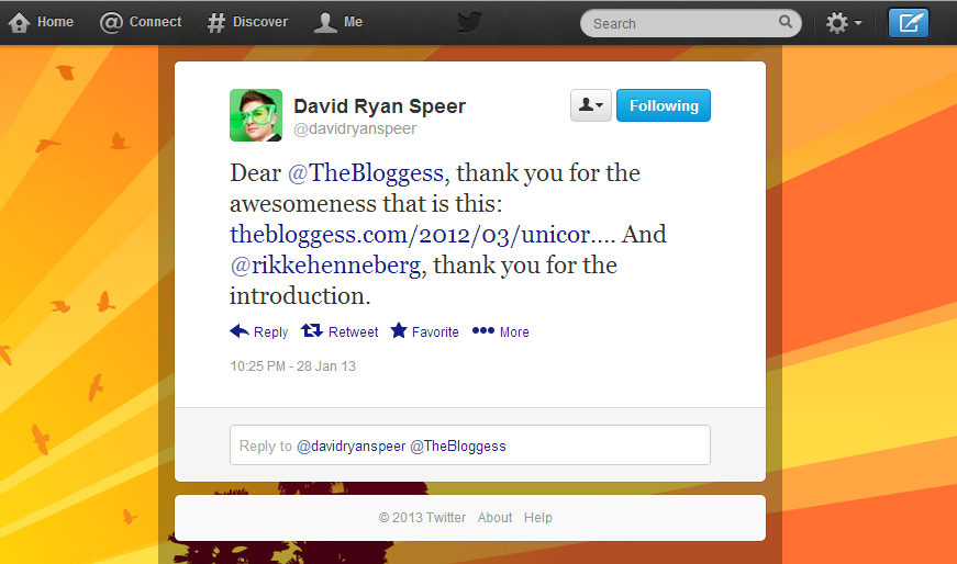 David Ryan Speer's Tweet #2