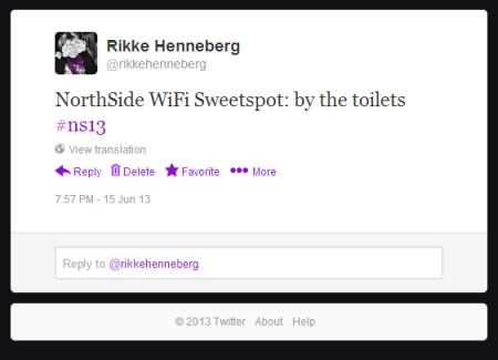ns13 - tweet - wifi
